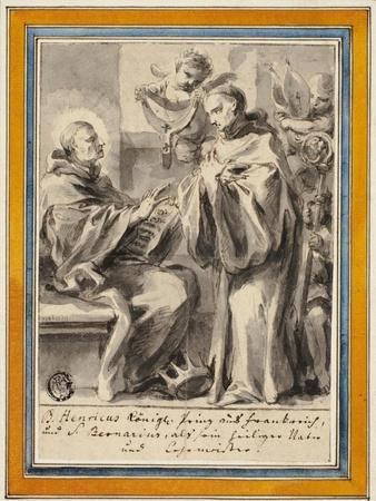 King Henry of France and Saint Bernard of Clairvaux