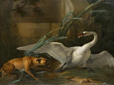 Swan Attacked by a Dog, 1745