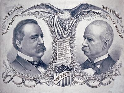 Democratic presidential campaign poster, 1892