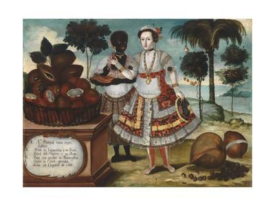 Noble woman with Her Black Slave, c.1783