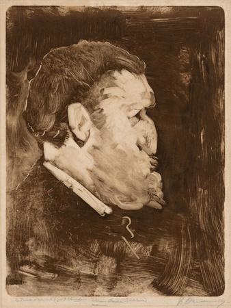 Caricature of William Gedney Bunce, 1883-84