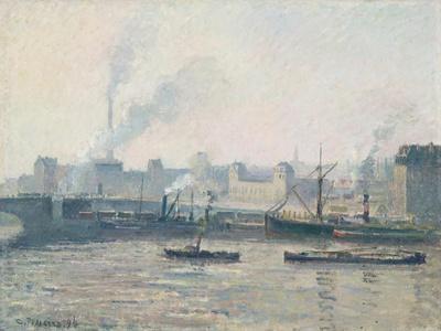 The Saint-Sever Bridge, Rouen: Mist, 1896