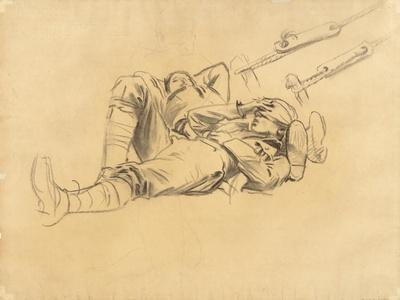 """Study for """"Gassed"""", 1918-9"""