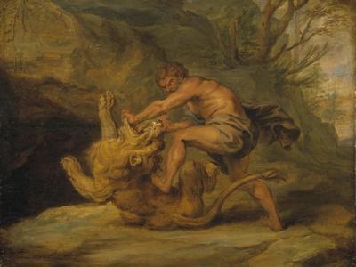 Samson and the Lion, c.1640