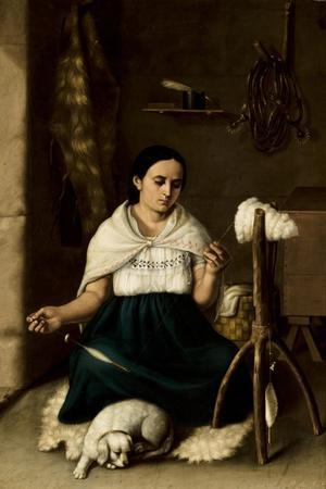 Woman Spinning , 1859