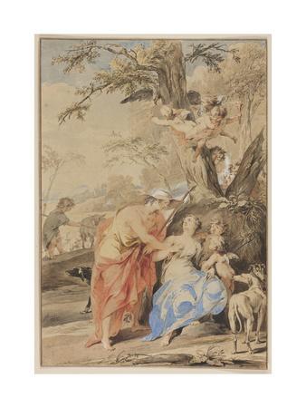 Jupiter and Mnemosyne, 1733
