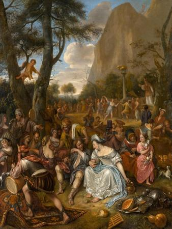 The Worship of the Golden Calf, c.1672-1675
