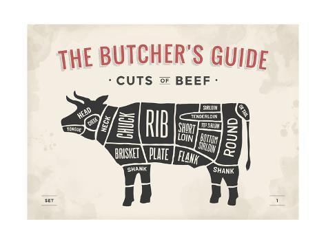 u g Q1BYJQG0?w=400&h=300 cut of meat butcher diagram cow posters by foxysgraphic at