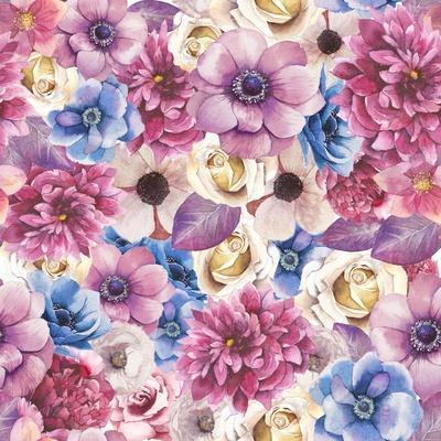 Watercolor Various Flowers