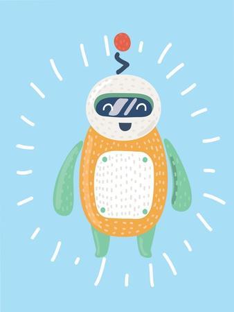 Illustration of Cute Robot