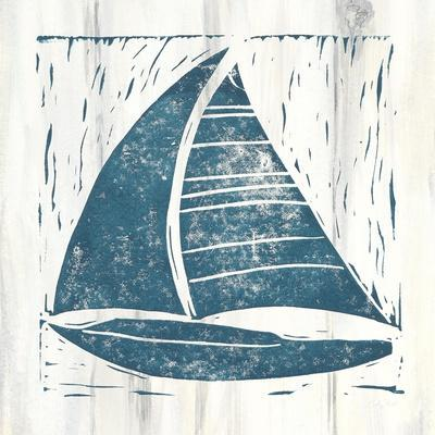 Nautical Collage IV On White Wood