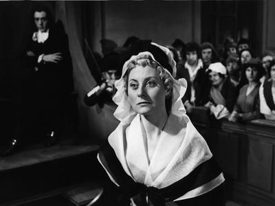 MARIE-ANTOINETTE, 1955 directed by JEAN DELANNOY Michele Morgan (b/w photo)