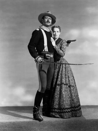 Rio Grande by JohnFord with John Wayne and Maureen O'Hara, 1950 (b/w photo)