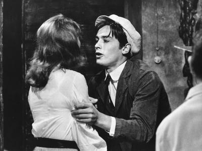 Quelle joie by vivre by Rene Clement with Barbara Lass and Alain Delon, 1961 (b/w photo)