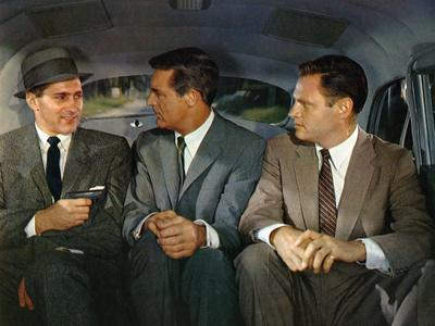 NORTH BY NORTHWEST, 1959 directed by ALFRED HITCHCOCK Robert Ellenstein /Cary Grant and Adam Willia