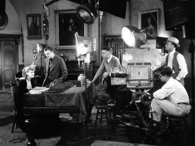 ROMANCE, 1930 directed by CLARENCE BROWN On the set; Greta Garbo, Gavin Gordon and the director Cla