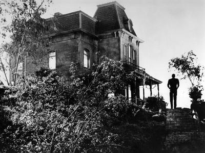 PSYCHO, 1960 directed by ALFRED HITCHCOCK Anthony Perkins (b/w photo)