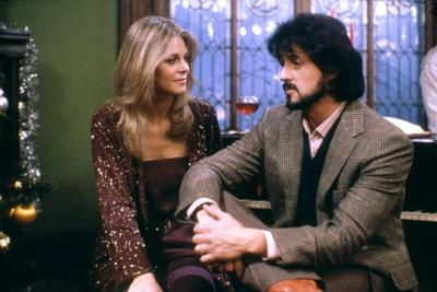 NIGHTHAWKS, 1981 directed by BRUCE MALMUTH Lindsay Wagner and Sylvester Stallone (photo)