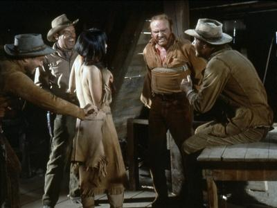 NEVADA SMITH, 1966 directed by HENRY HATHAWAY Arthur Kennedy and Karl Malden (photo)