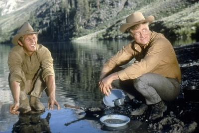 NEVADA SMITH, 1966 directed by HENRY HATHAWAY Steve McQueen and Brian Keith (photo)