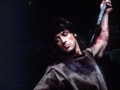 FIRST BLOOD, 1982 directed by TED KOTCHEFF Sylvester Stallone (photo)
