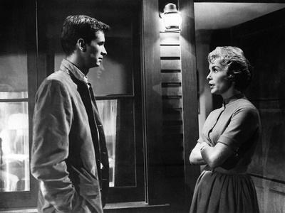 PSYCHO, 1960 directed by ALFRED HITCHCOCK Anthony Perkins / Janet Leigh (b/w photo)
