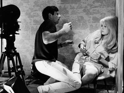 REPULSION, 1965 directed by ROMAN POLANSKI On the set, Roman Polanski directs Catherine Deneuve (b/