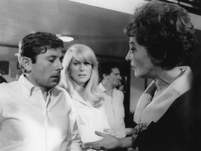 REPULSION, 1965 directed by ROMAN POLANSKI On the set, Roman Polanski directs his actresses (b/w ph