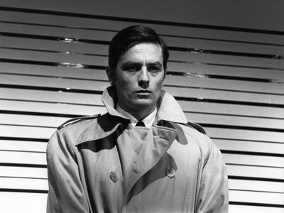 Le Samourai by Jean-Pierre Melville with Alain Delon, 1967 (b/w photo)