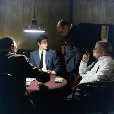 LE SAMOURAI, 1967 directed by JEAN-PIERRE MELVILLE On the set, Jean-Pierre Melville directs Alain D