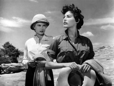 Mogambo by JohnFord with Grace Kelly and Ava Gardner, 1953 (b/w photo)