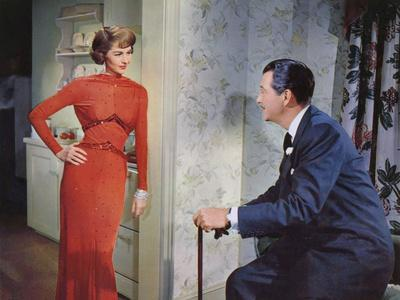 PARTY GIRL, 1958 directed by NICOLAS RAY Cyd Charisse / Robert Taylor (photo)