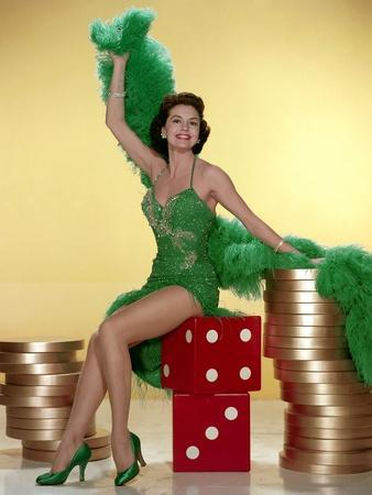 MEET ME IN LAS VEGAS, 1956 directed by ROY ROWLAND Cyd Charisse (photo)