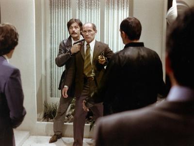 Le Gitan (The Gypsy) by Jose Giovanni with Alain Delon and Marcel Bozzuffi, 1975 (photo)