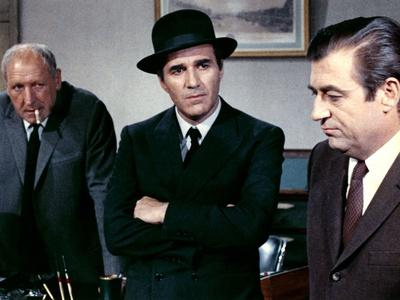 Max and les Ferrailleurs by Claude Sautet with Georges Wilson, Michel Piccoli and Francois Perier,