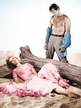 PICNIC, 1956 directed by JOSHUA LOGAN Kim Novak and William Holden (photo)