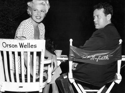 Orson Welles and Rita Hayworth pendant le tournage du film La Dame by Shanghai THE LADY FROM SHANGH
