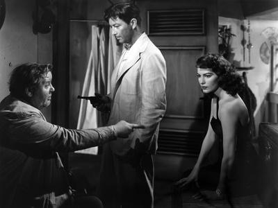 L'ile au complot THE BRIBE by RobertLeonard with Charles Laughton, Ava Gardner and Robert Taylor, 1