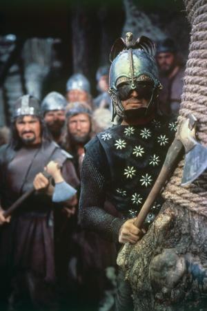 Les Vikings by Richard Fleischer with Kirk Douglas en, 1958 (photo)