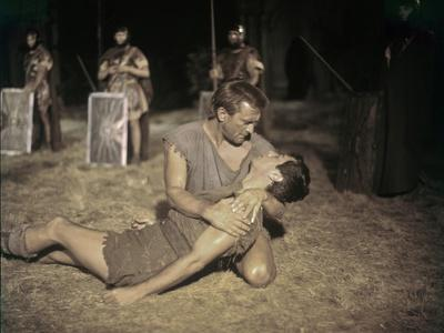 Spartacus by Stanley Kubrik with Tony Curtis and Kirk Douglas, 1960 (photo)