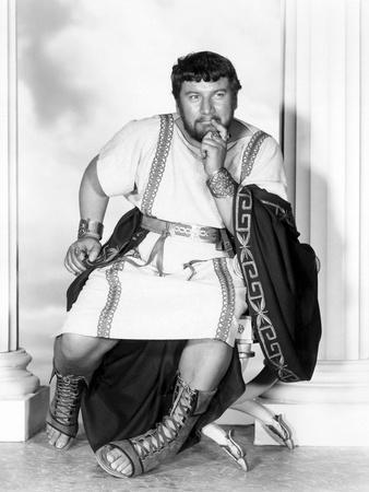 Spartacus by Stanley Kubrik with Peter Ustinov, 1960 (b/w photo)
