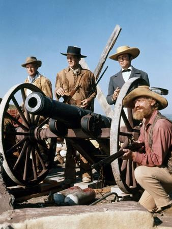 Alamo by JohnWayne with Richard Widmark, John Wayne and Laurence Harvey, 1960 (photo)