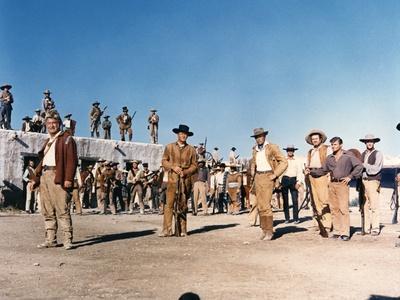 Alamo by JohnWayne with Richard Widmark and John Wayne, 1960 (photo)