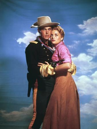 SERGEANT RUTLEGE, 1960 directed by JOHN FORD Jeffrey Hunter and Constance Towers (photo)