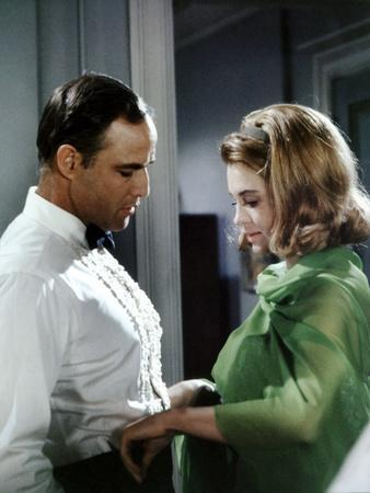 La Poursuite Impitoyable THE CHASE d'ArthurPenn with Marlon Brando and Angie Dickinson, 1966 (photo