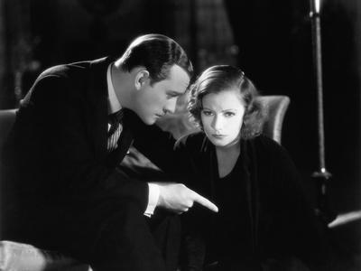 Le Baiser by Jacques Feyder with Conrad Nage and Greta Garbo, 1929 (b/w photo)