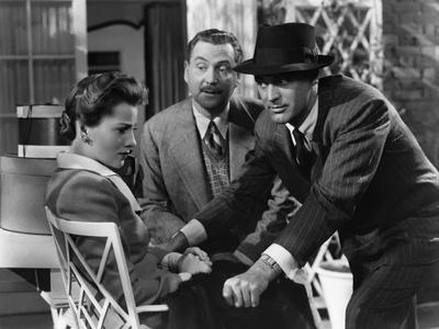 Soupcons SUSPICION by AlfredHitchcock with Joan Fontaine, Nigel Bruce and Cary Grant, 1941 (b/w pho