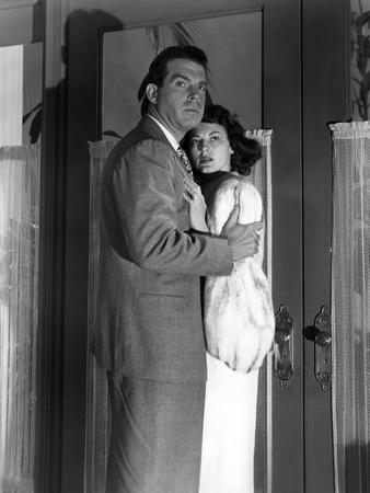 SINGAPORE, 1947 directed by JOHN BRAHM Fred MacMurray and Ava Gardner (b/w photo)