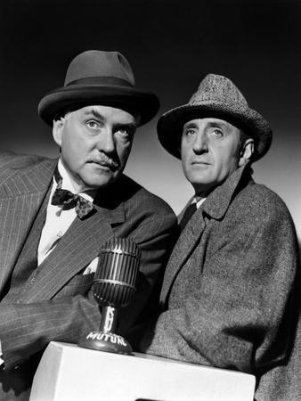 SHERLOCK HOLMES Nigel Bruce and Basil Rathbone (b/w photo)
