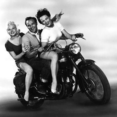 L'Equipee Sauvage THE WILD ONE by Laszlo Benedek with Marlon Brando and Mary Murphy, 1953 (b/w phot